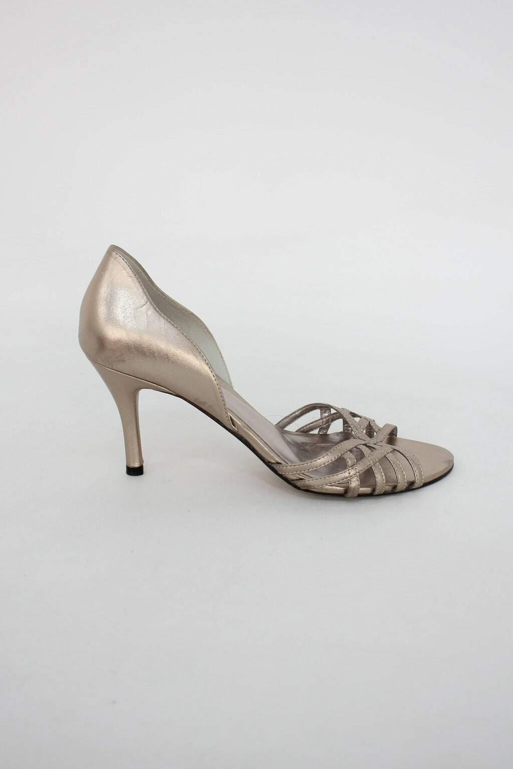 Peep Toe Feminino Dourado Farthingale