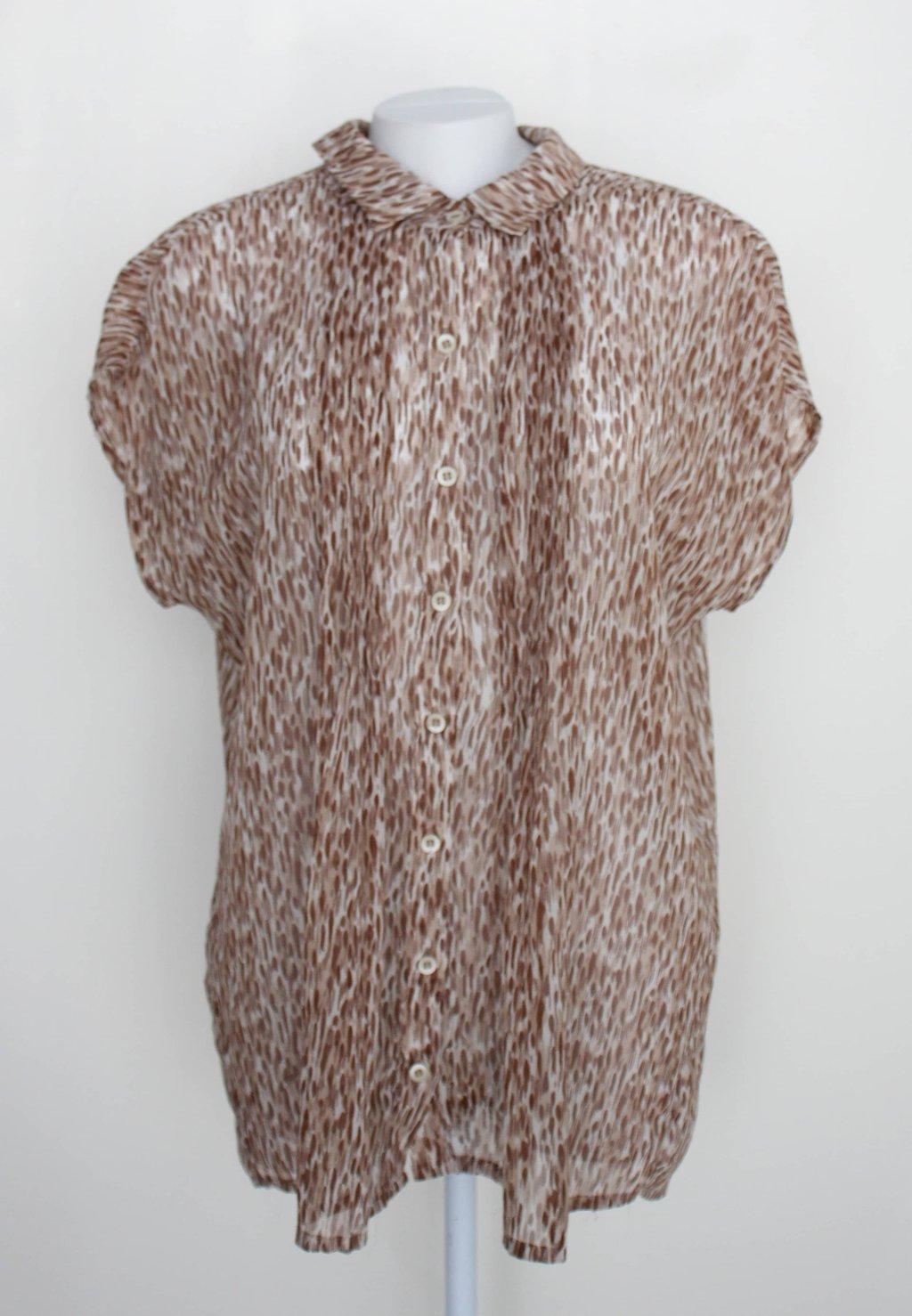 Camisa Max Marly's Feminina Marrom