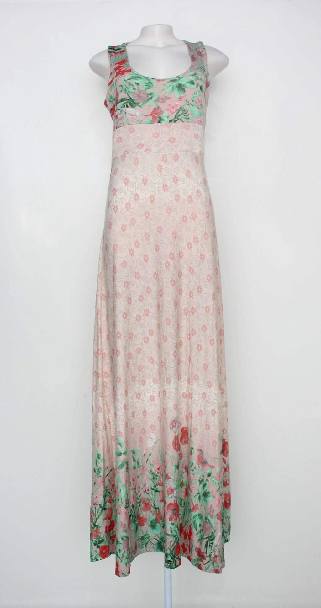 Vestido Longo Estampado Suzana Braun