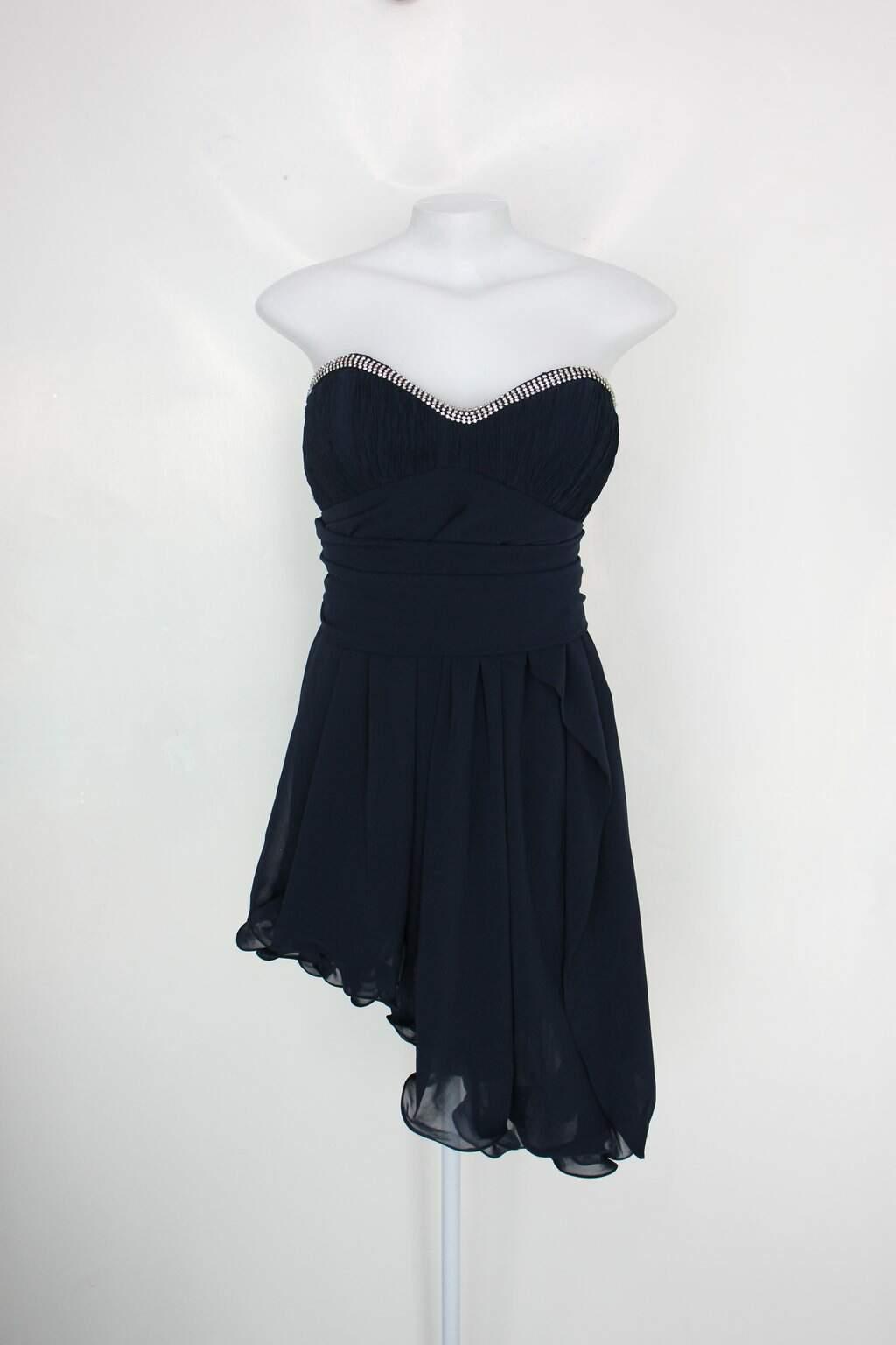 Vestido De Festa Shampoo Concept Feminino Azul Com Aplique