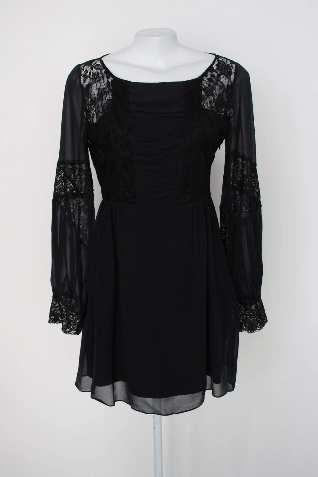 Vestido Iorane Feminino Preto Com Renda