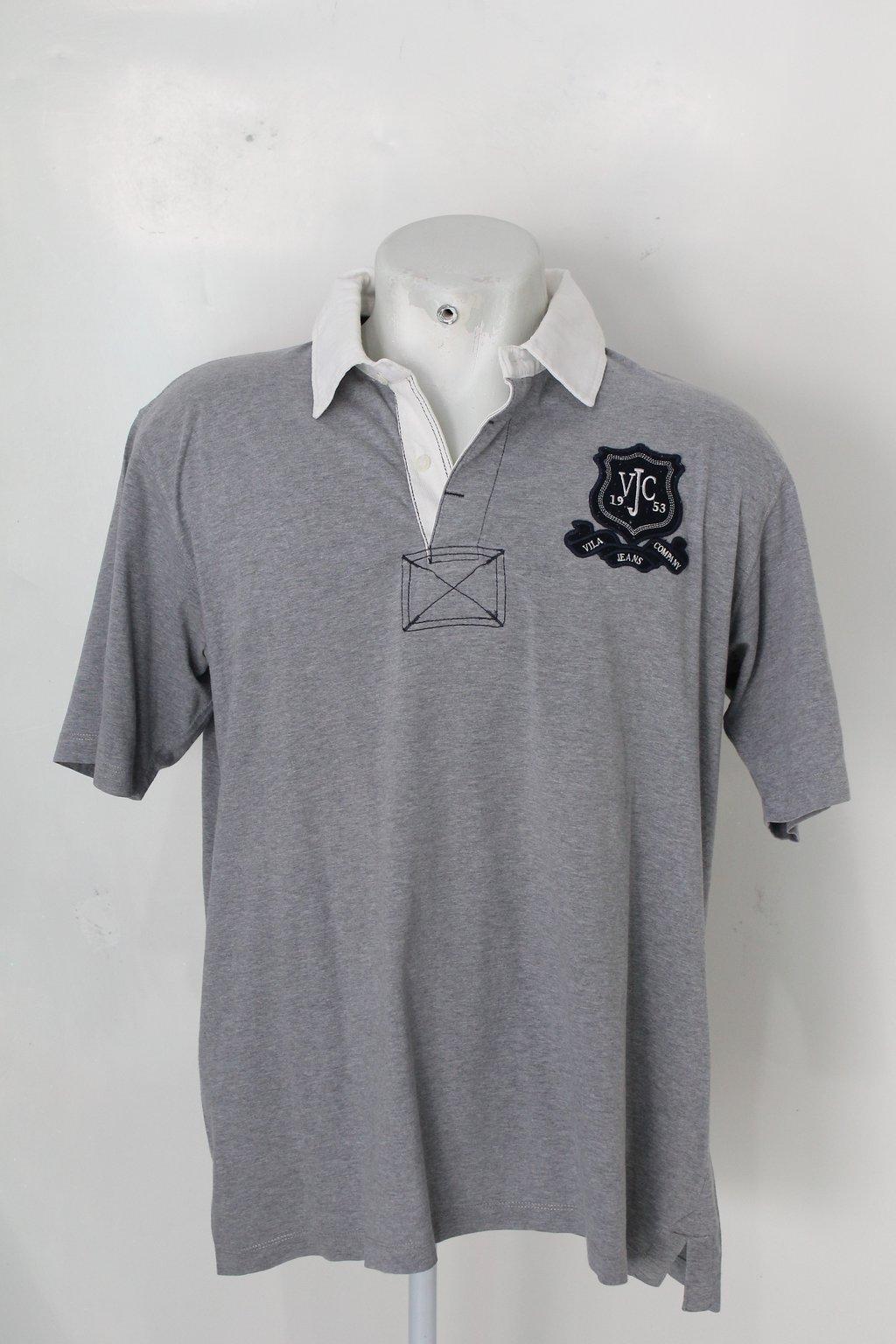 Camisa Polo V.j.c Masculina Cinza