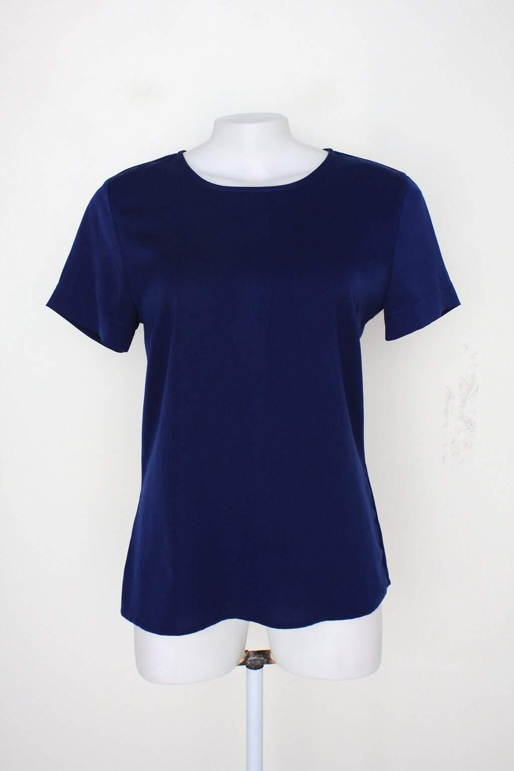 Blusa Insp Feminina Azul Escuro Com Zíper