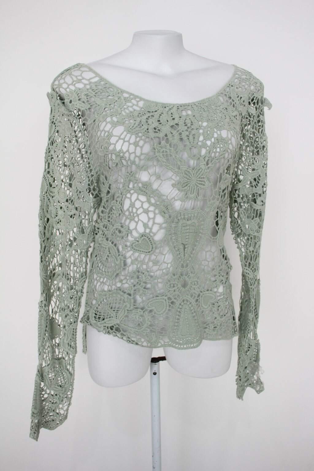 Blusa Renda De Algodão Feminina Verde