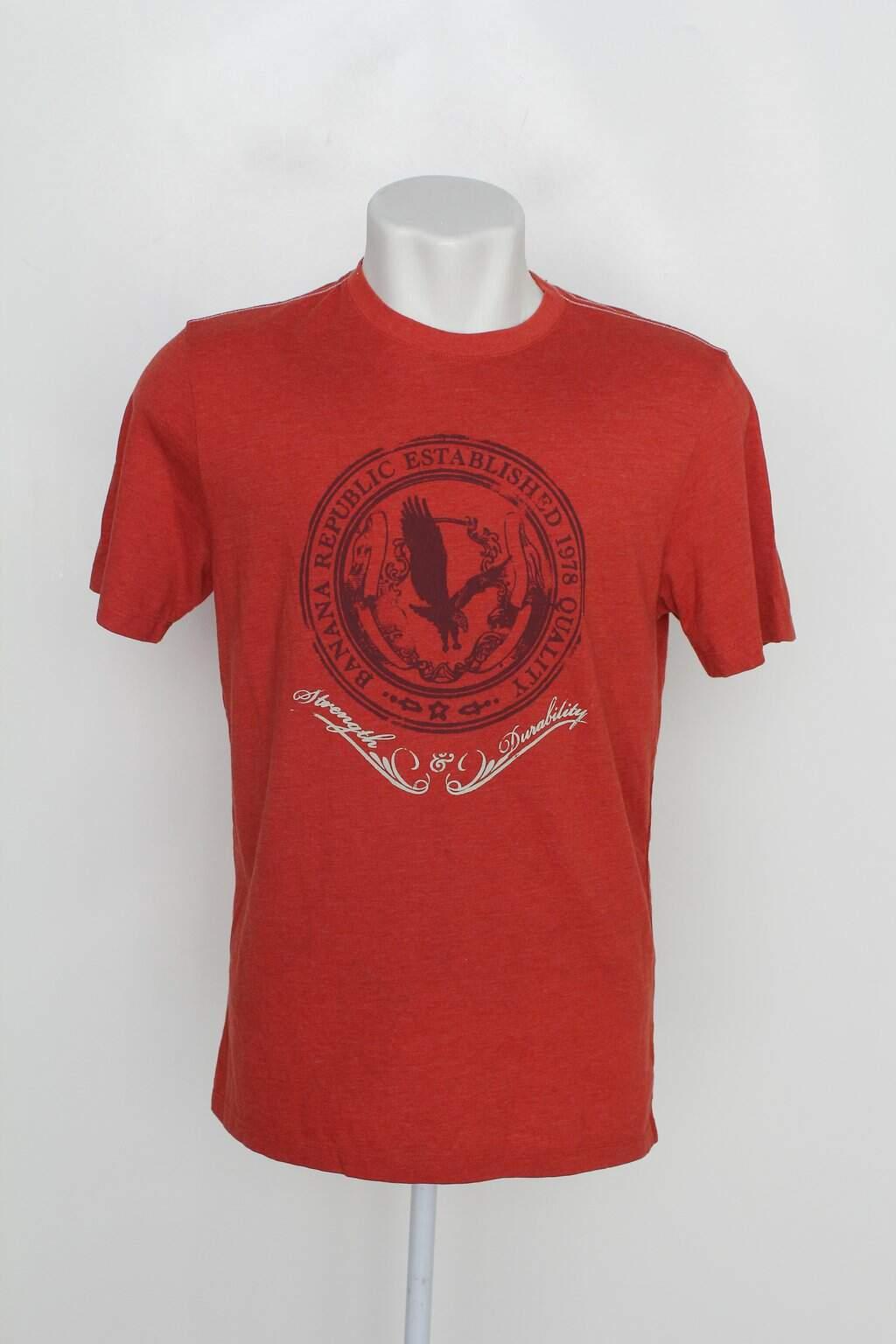 Camiseta Gap Masculina Laranja Com Silk