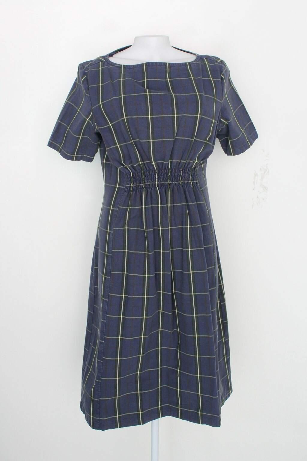 Vestido Erva Doce Feminino Azul Xadrez