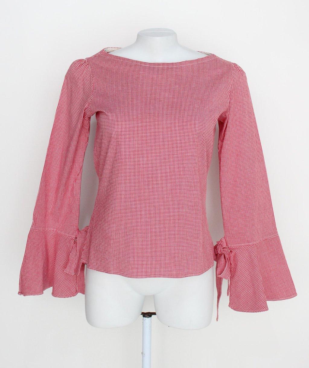 Blusa Feminina Vermelha Estampada