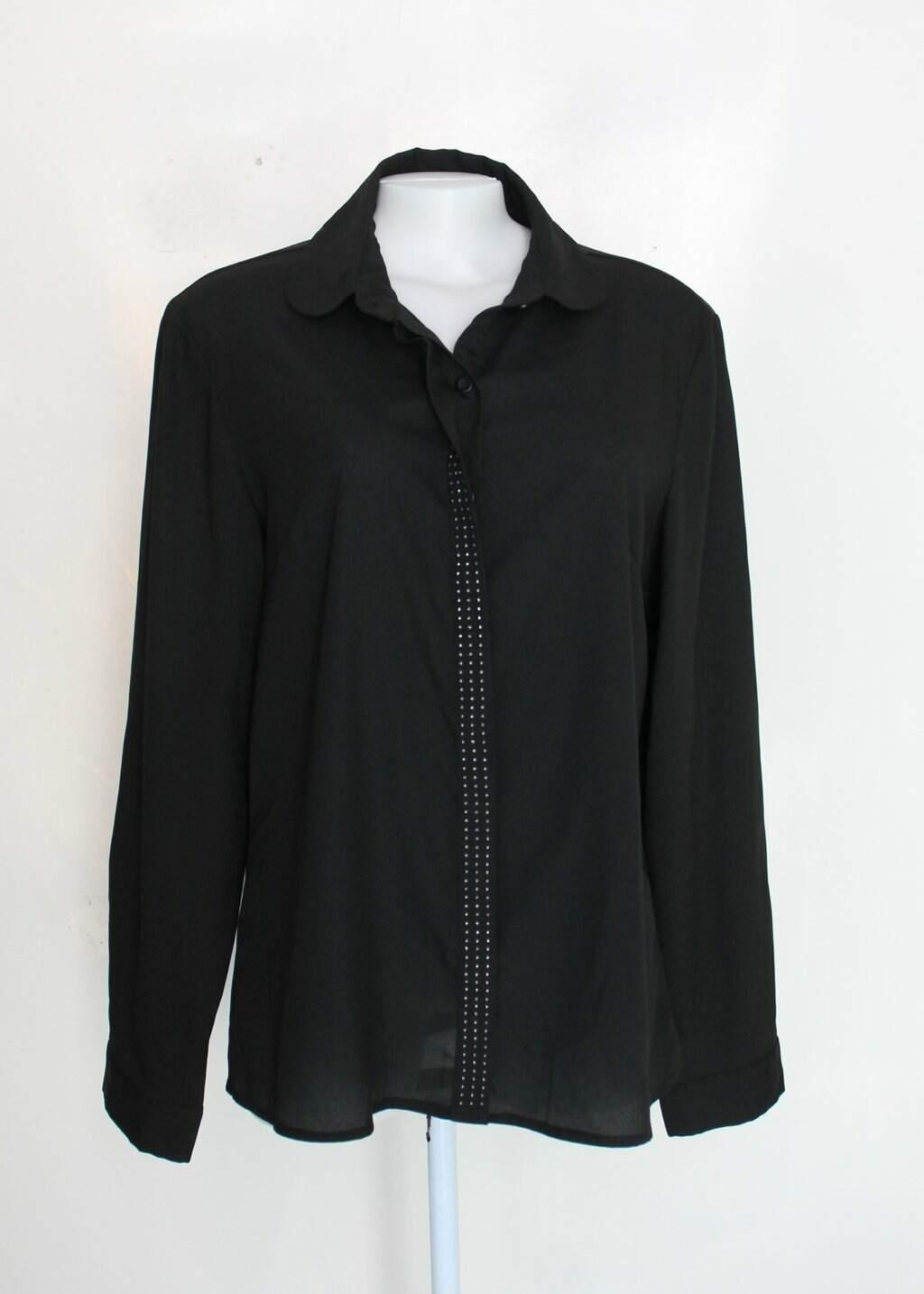 Camisa Beluga Feminina Preto Com Strass