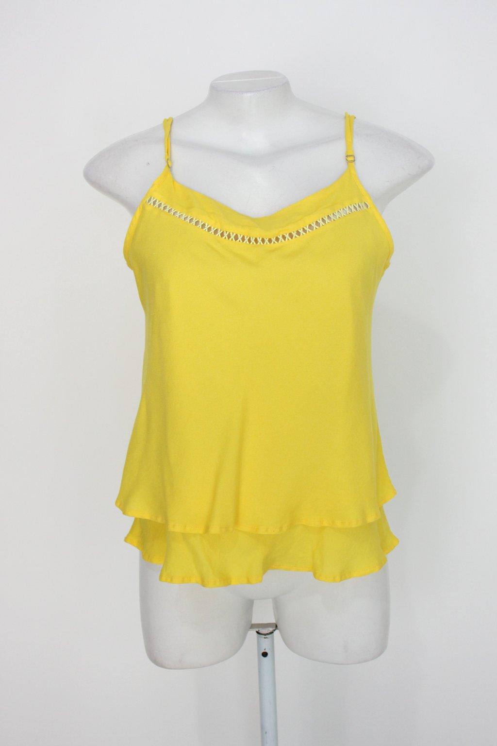 Blusa Reta Feminina Amarela