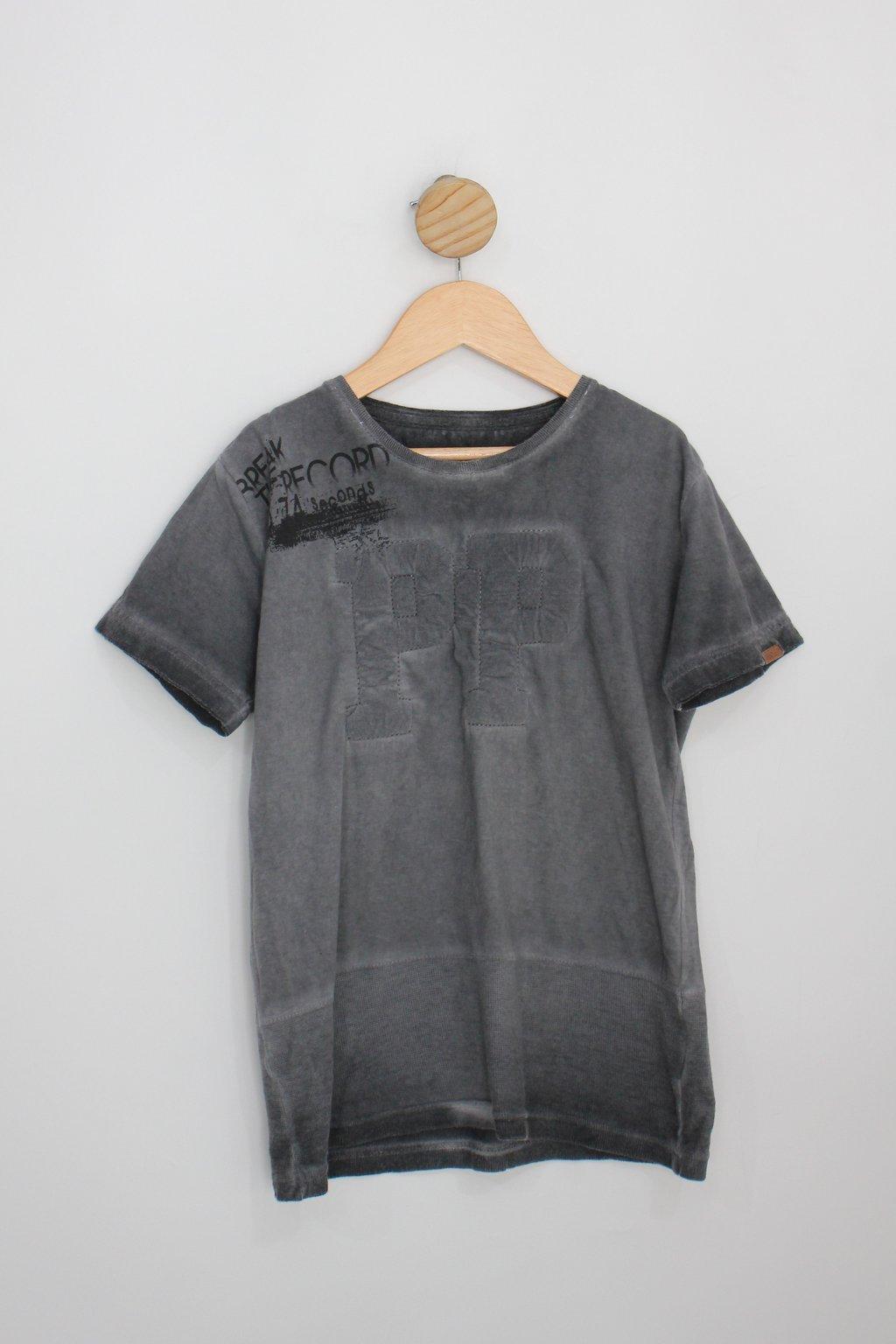 Camiseta Infantil Planeta Pano Cinza