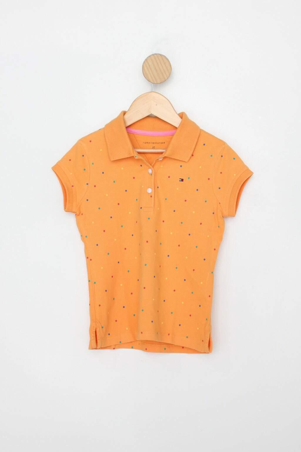 Polo Infantil Tommy Hilfiger Amarela Mostarda Estampada