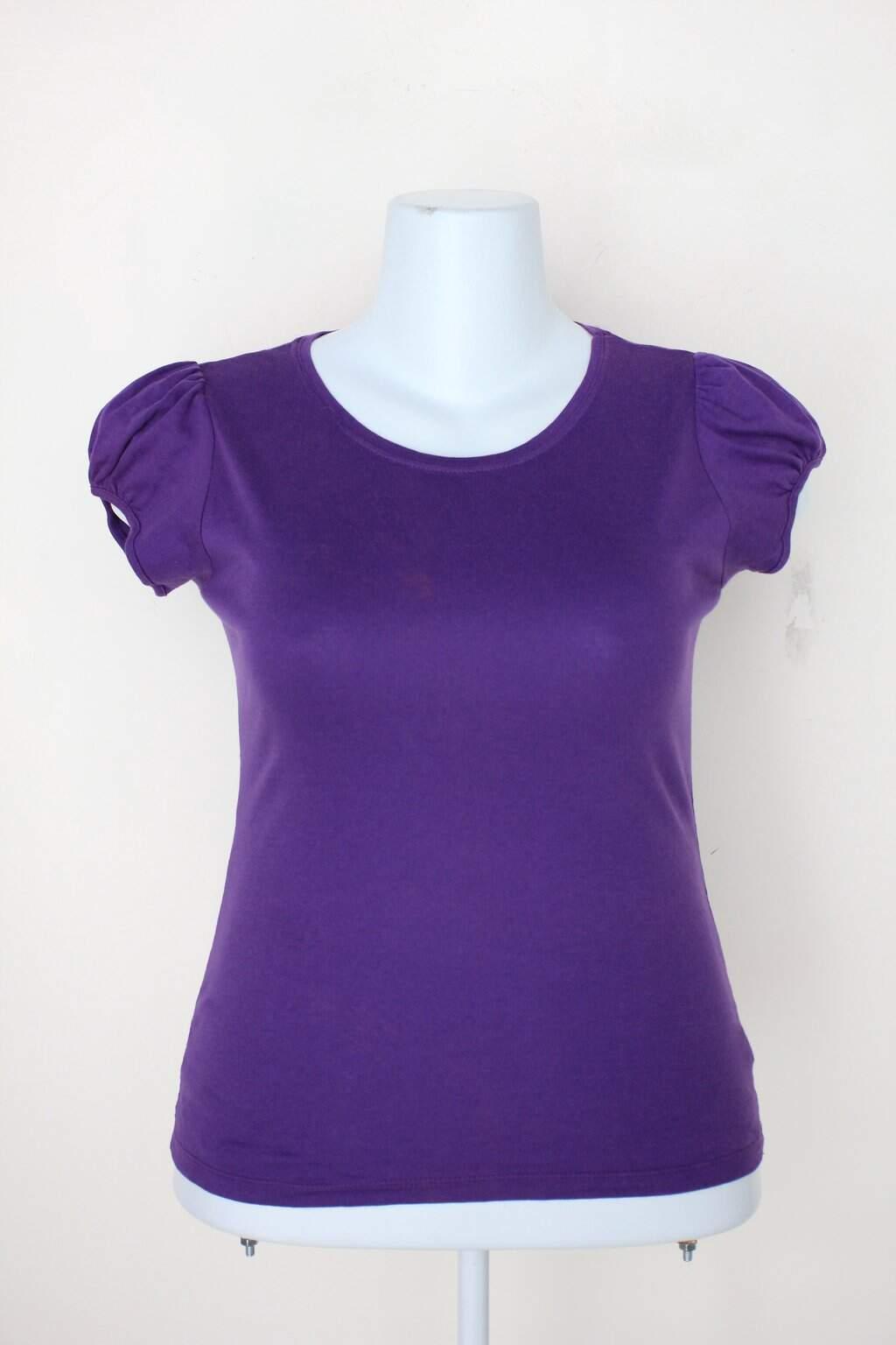 Camiseta Mas Que Basiccs Feminina Roxa