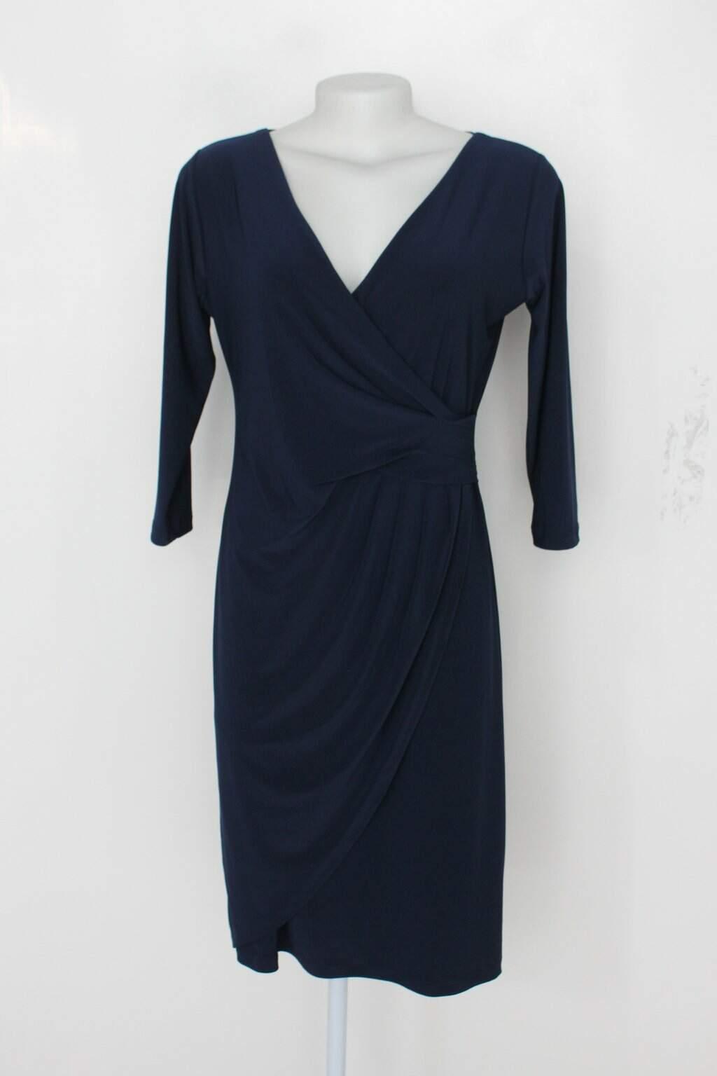 Vestido De Festa Feminino Azul Com Fenda