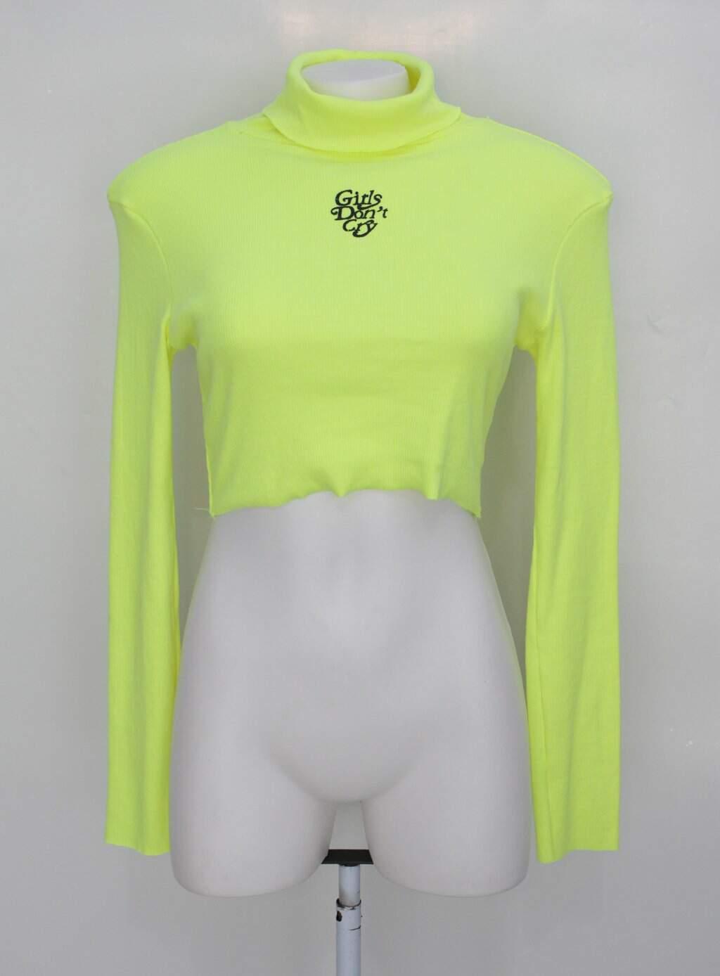 Blusa Gringa.com Feminina Verde Neon Estampada