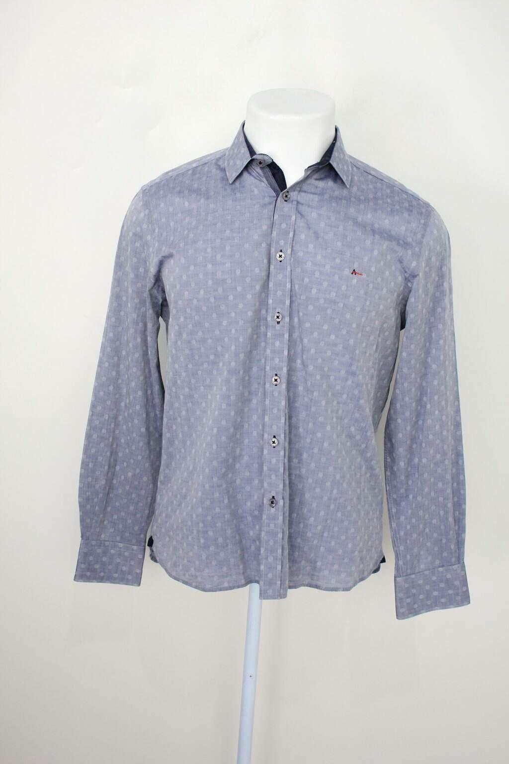 Camisa Aramis Masculina Azul Com Poás