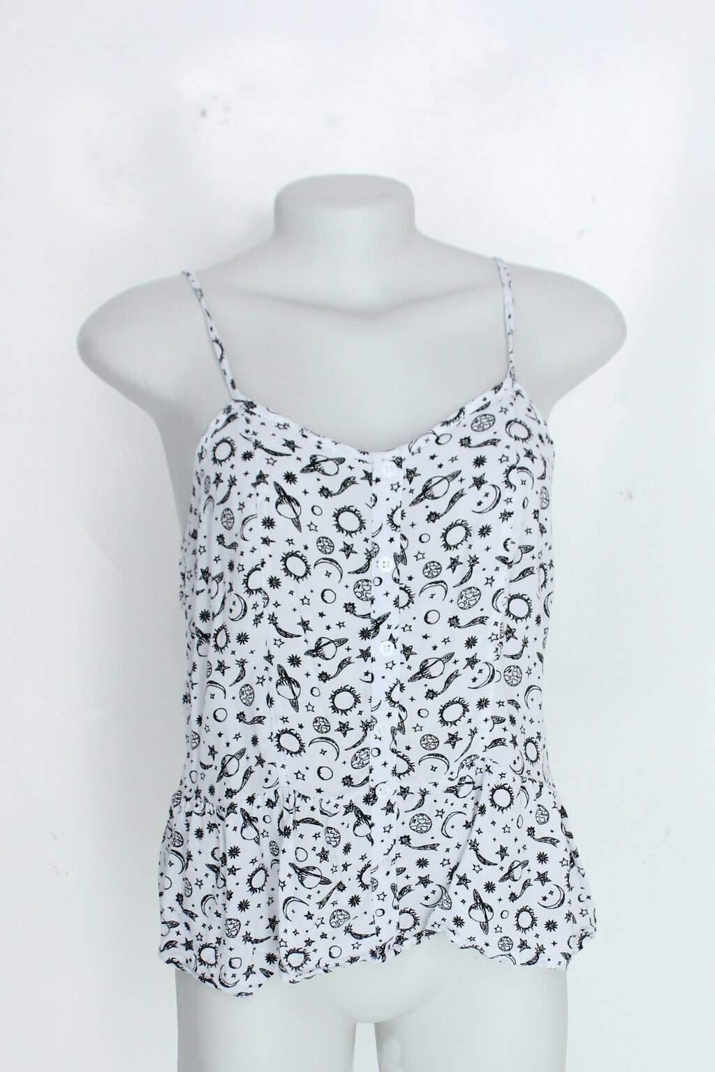 Blusa Riachuelo Feminina Branca Com Estampa