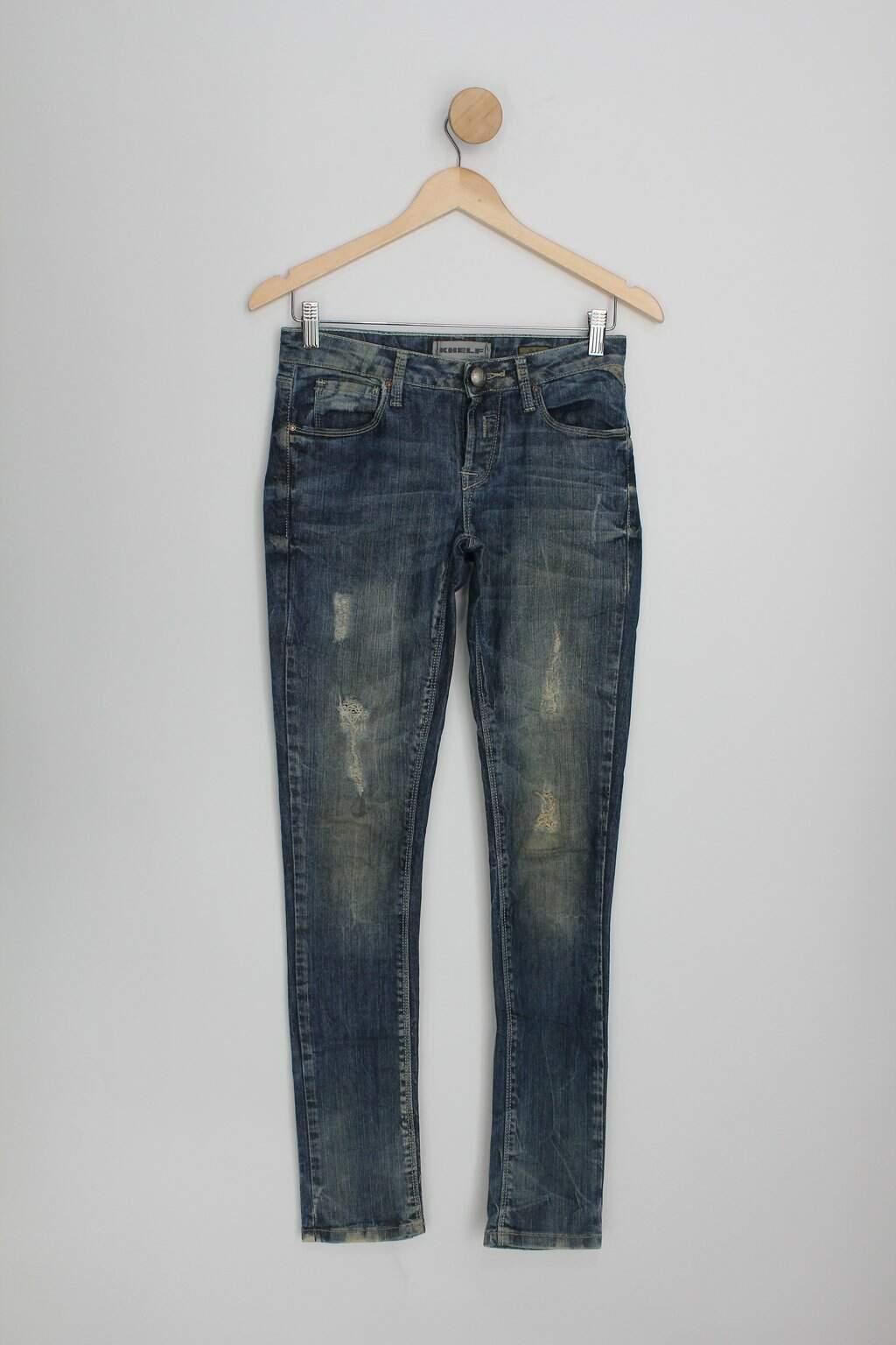 Calça Jeans Gold Wash Khelf Feminina Azul
