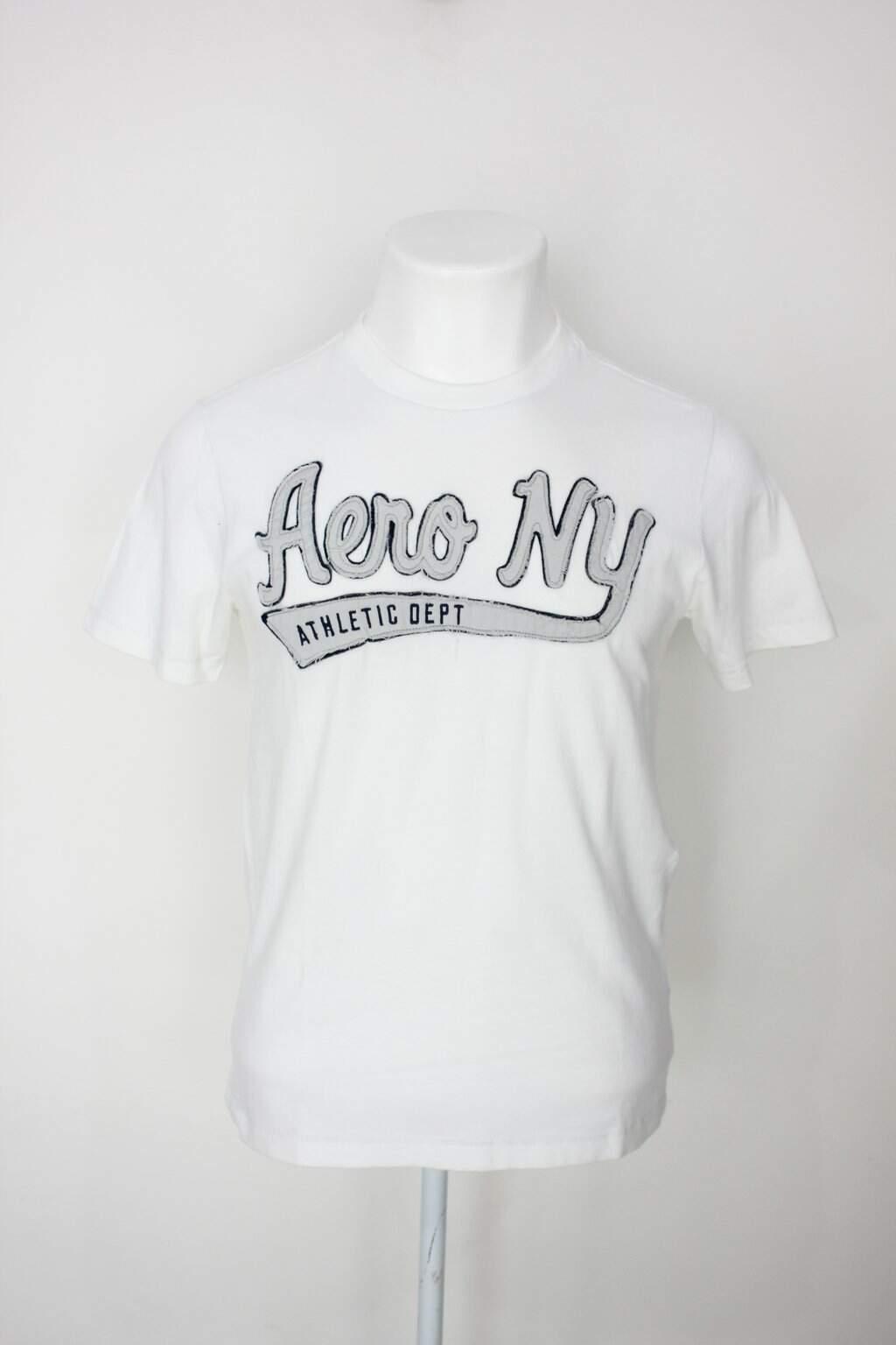 Camiseta Aéropostale Masculina Branca Com Bordado