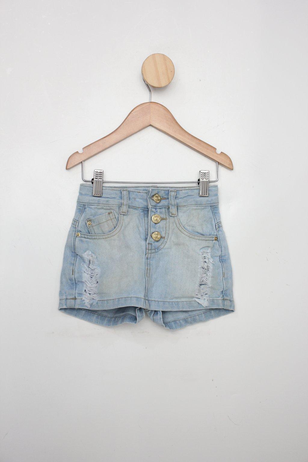 Shorts-saia Jeans Infantil Marisa Azul