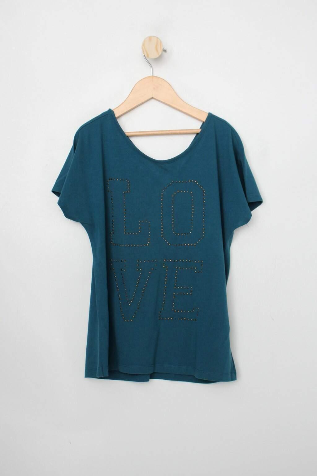 Blusa Infantil Zara Verde Esmeralda Com Hotfix