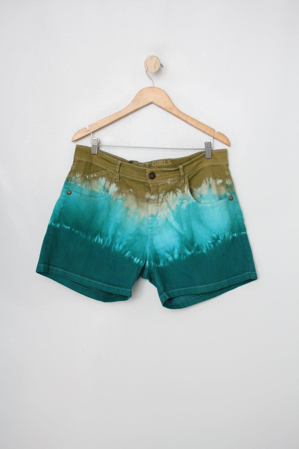 Shorts Planet Girls Feminino Com Tie Dye Verde