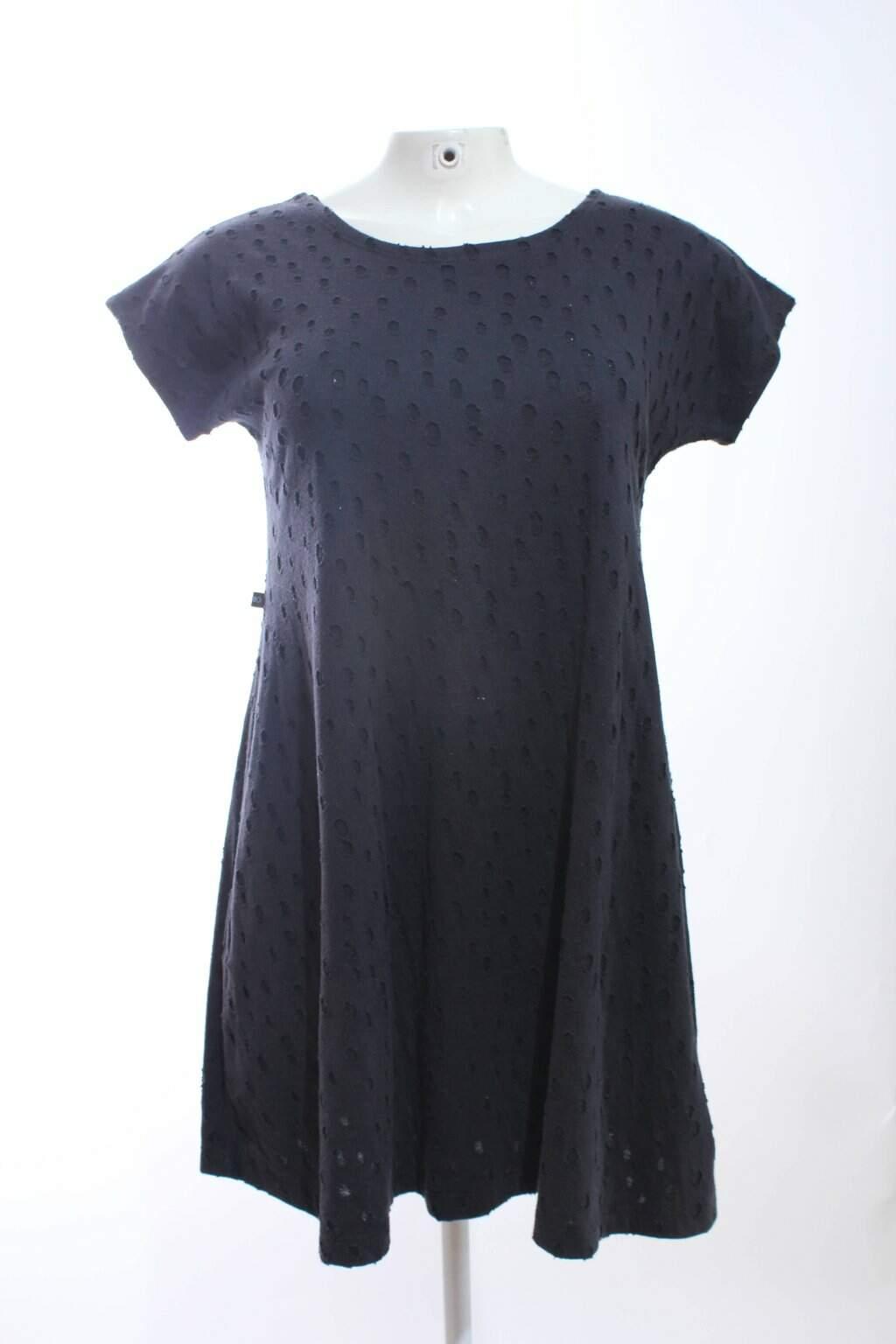Blusa Malha Azul Escuro Destroyed