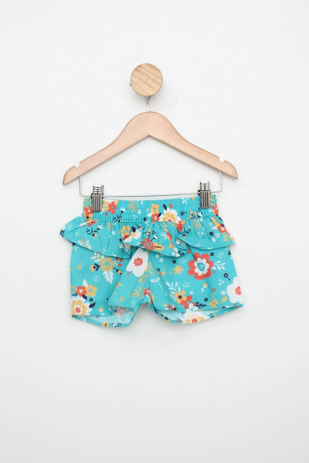 Shorts Infantil Mineral Kids Azul Estampado