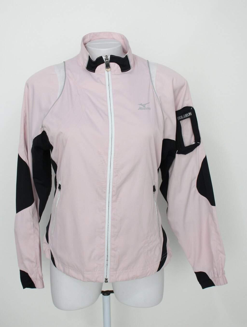 Jaqueta Esportiva Mizuno Feminina Rosa E Preta