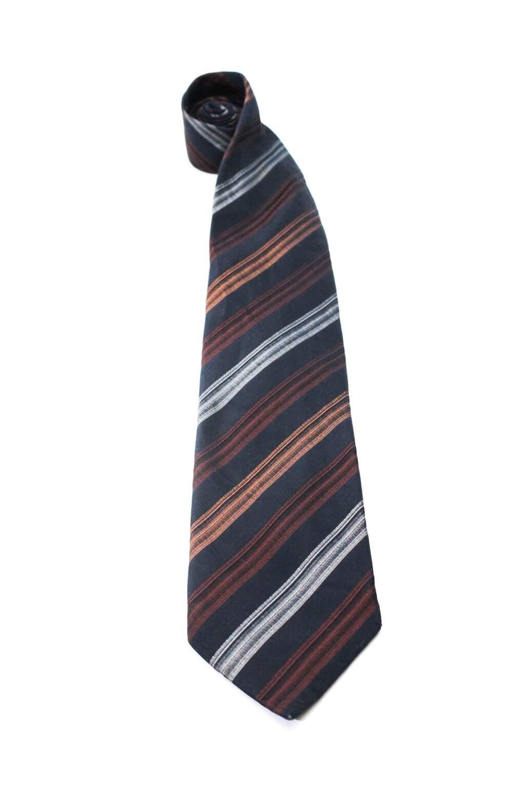Gravata Azul Listrada