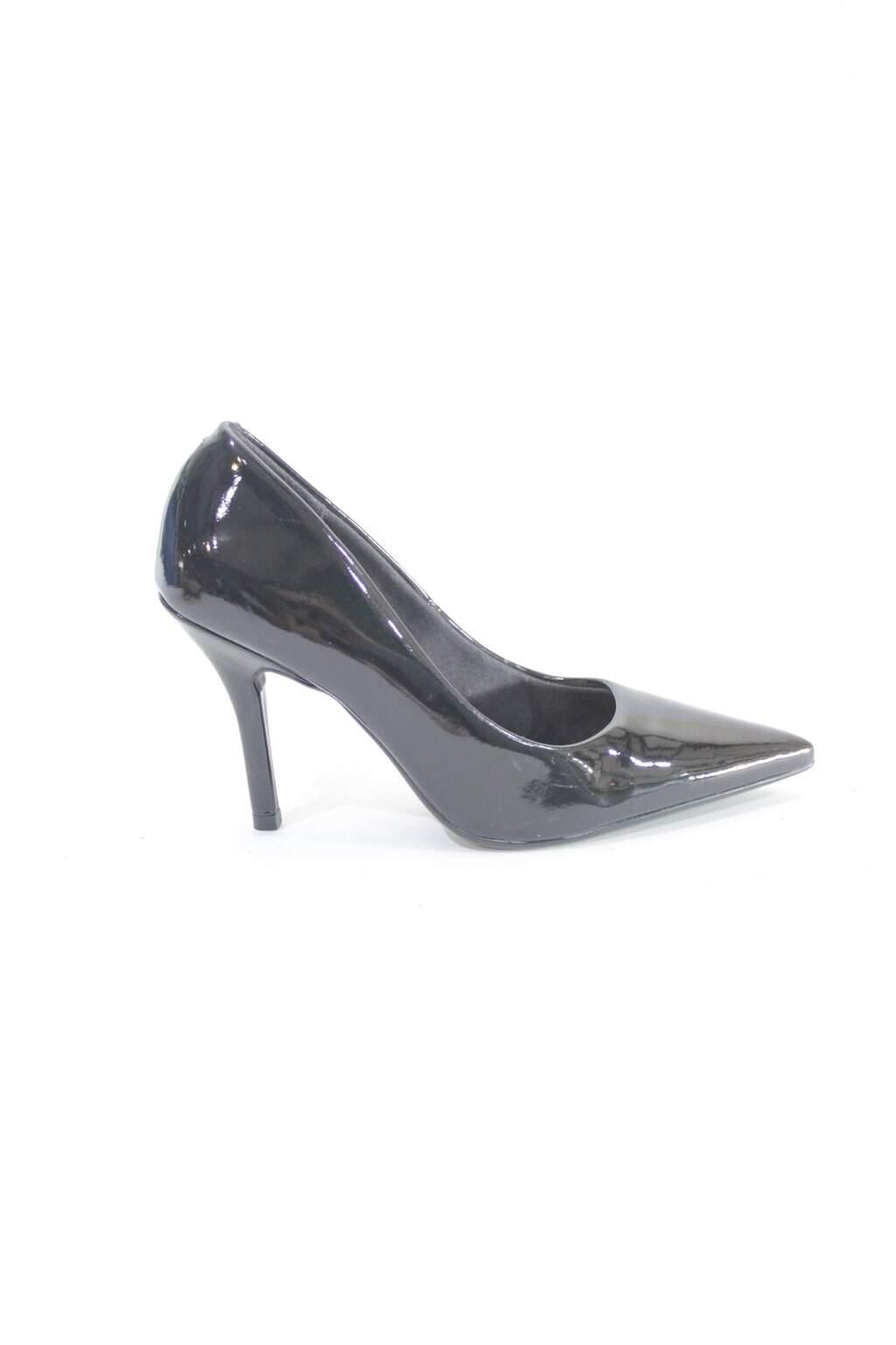 Sapato Preto Vinilizado Vizzano