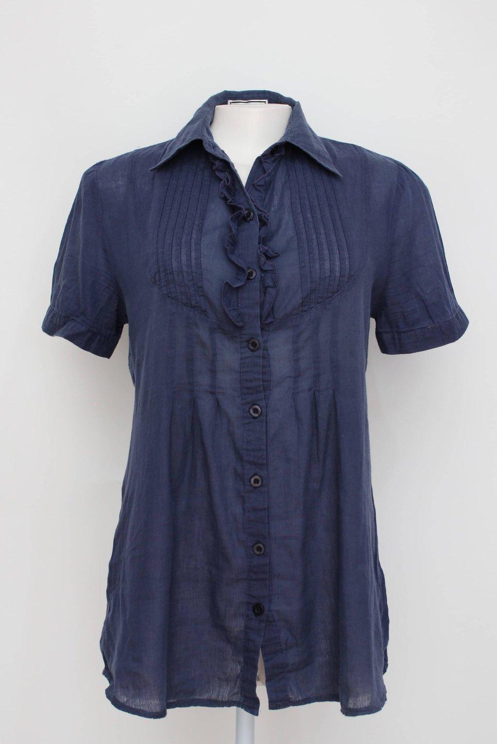 Camisa azul barreds