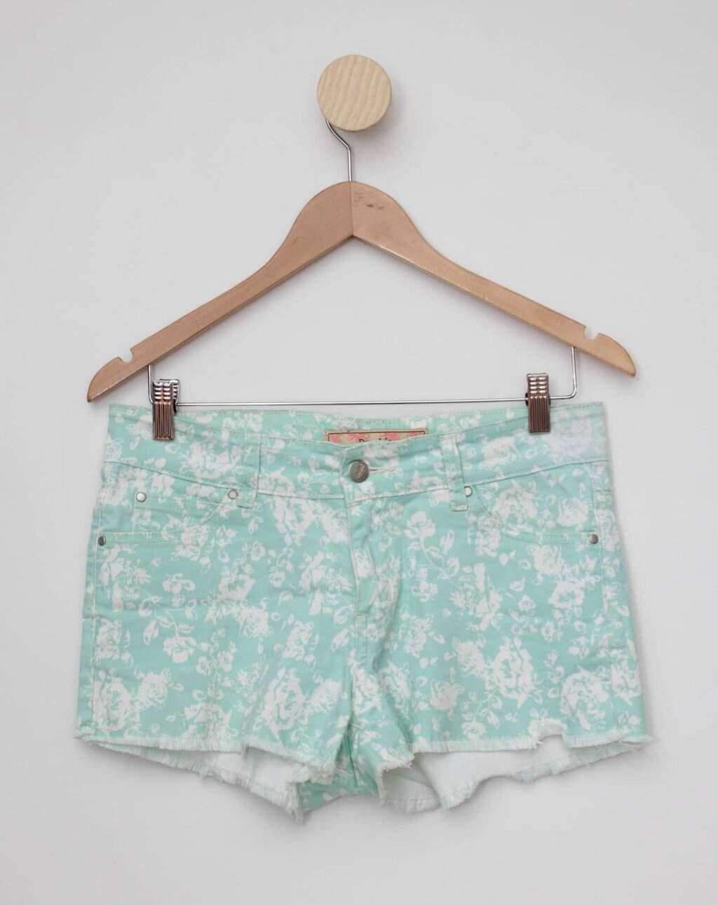 Shorts estampado verde pop me