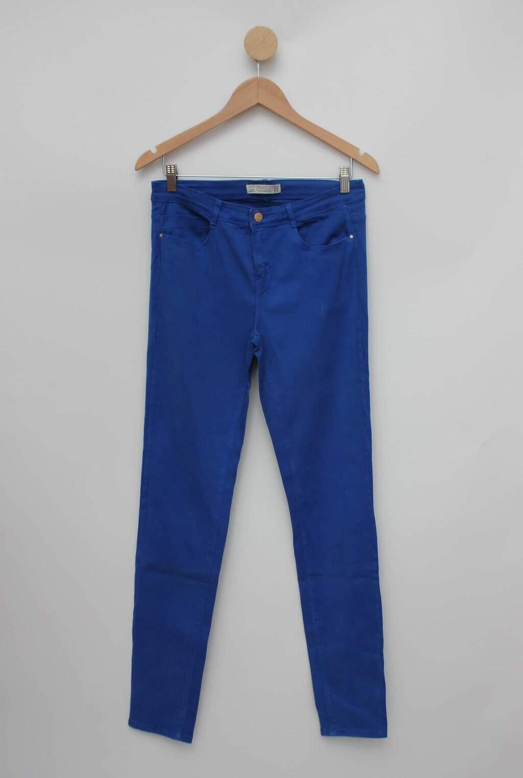 Calca de sarja azul zara