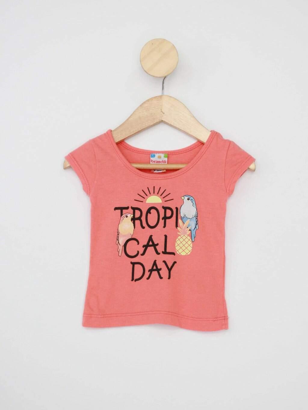Camiseta Infantil Brandili Laranja