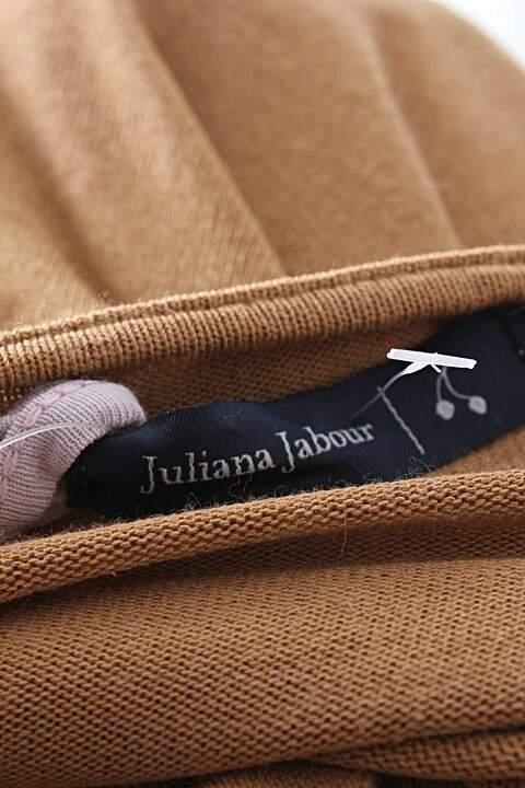 Vestido Camiseta Juliana Jabour Bege - TAM 38._foto de detalhe
