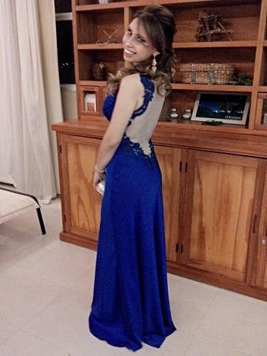 Vestido de Festa Azul_foto de detalhe