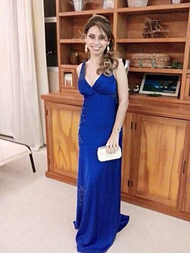 Vestido de Festa Azul_foto da etiqueta