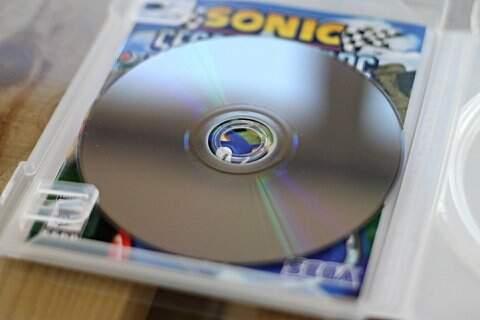 Jogo de PS3, Sonic & Sega All-Stars Racing_foto de costas