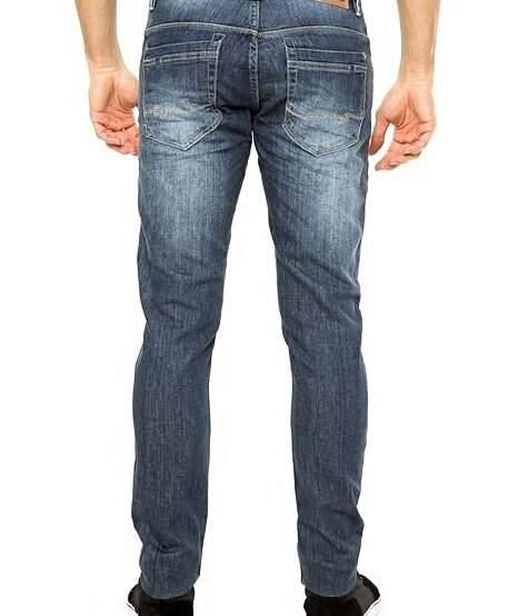 Calça Jeans Reta Sawary azul _foto de frente
