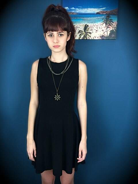 Vestido Preto Zara _