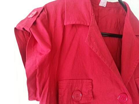 Vestido Curto Vermelho _foto da etiqueta