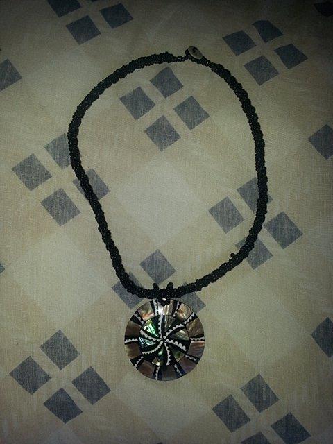 Colar Medalhão Abalone_
