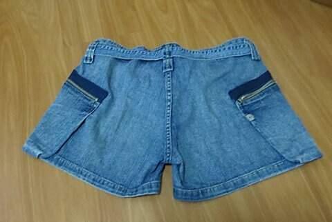Short jeans Pura Mania com amarração_