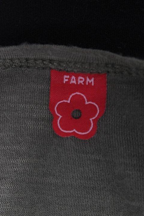 Vestido Verde e Preto Farm_foto de costas