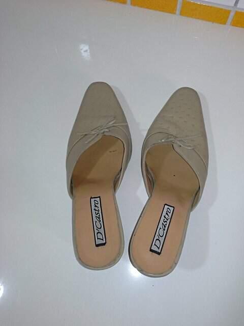 Sapato em Couro Nude_foto de frente