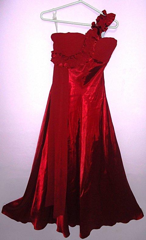Vestido de Festa Vermelho Longo_