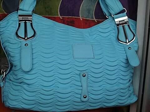 Bolsa Mala Azul da Cor do Céu_foto de frente