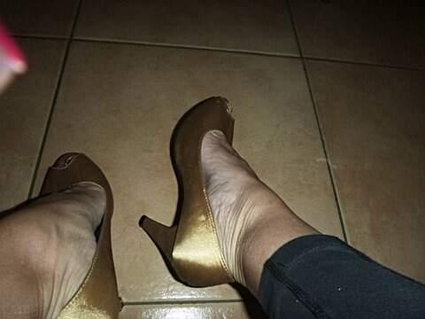 Peep Toe Dourado_