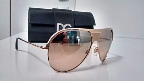 Óculos de Sol Dourado Dolce & Gabbana DG2090_foto de frente