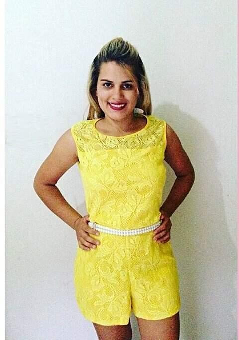 Macaquinho em Linho e Renda Amarelo_foto principal